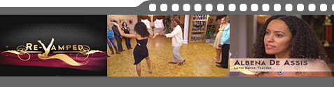 Salsa dance instructors at Re-Vamped TV show