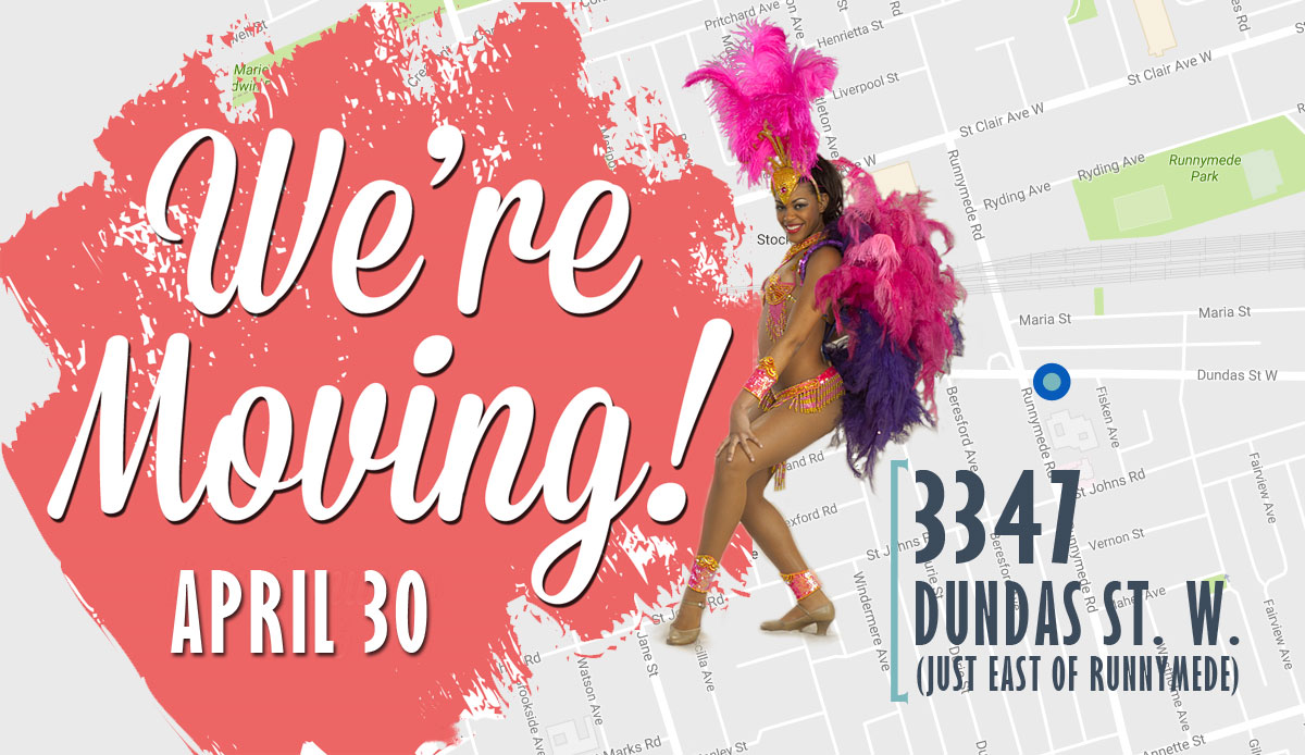 AfroLatino Dance Co. new location: 3347 Dundas St. West