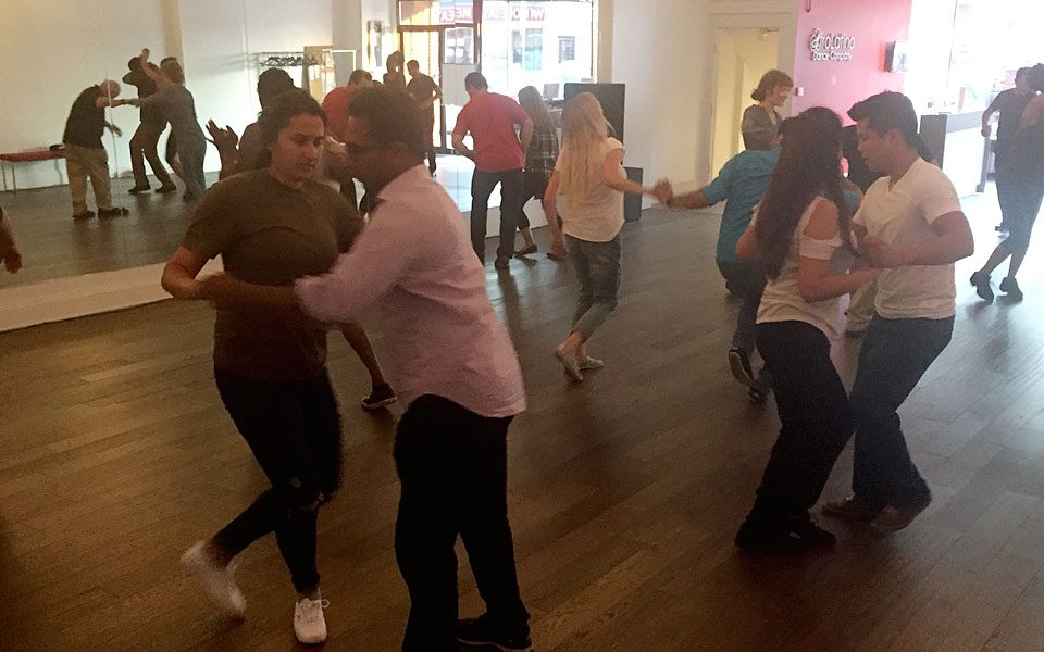 Salsa lessons and social