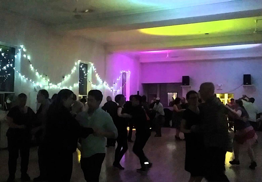 Salsa dancing at the Dovercourt House