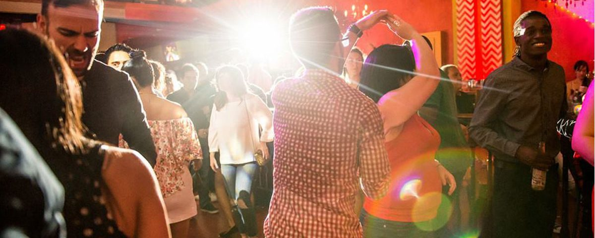Salsa dancing at Lula Lounge