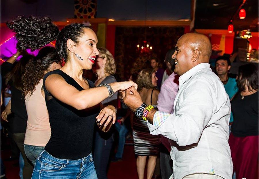 Salsa dancers at Lula Lounge