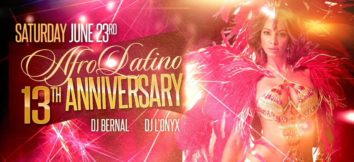 AfroLatino 13th Anniversary party - salsa. kizomba, bachata
