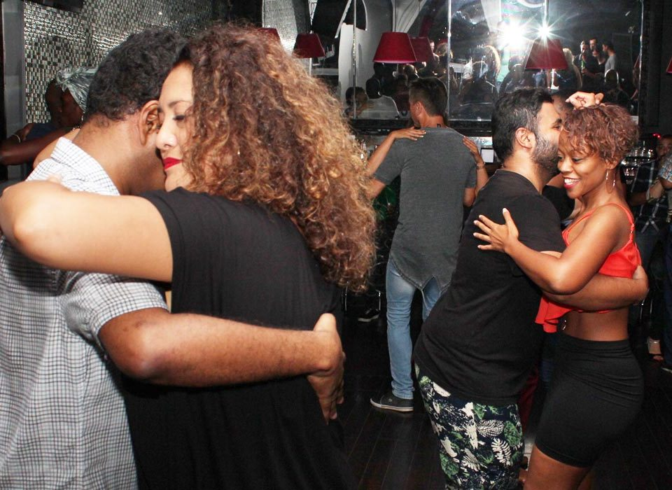 Kizomba dancers at a Kizomba party in Toronto