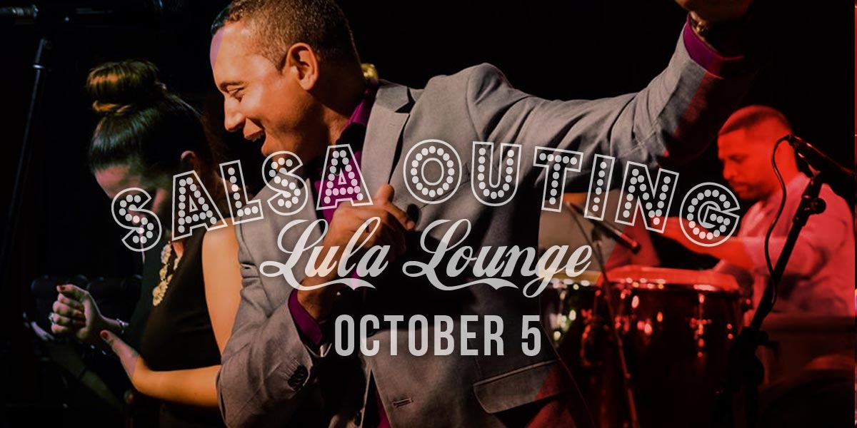 Salsa dance party, salsa dance lesson at Lula Lounge