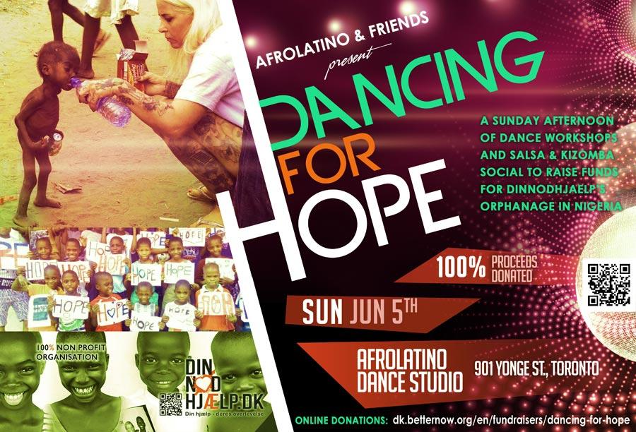 Dance workshop fundraiser for DINNOEDJHAELP