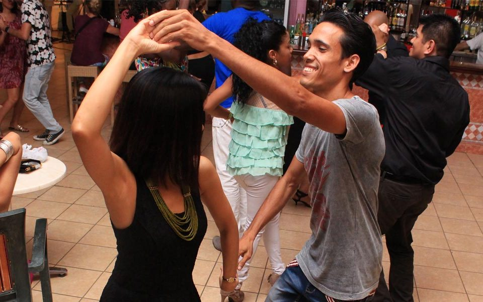 Salsa dancing at a club in Cuba