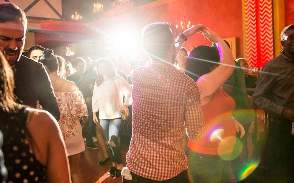 Salsa dancing at Lula Lounge