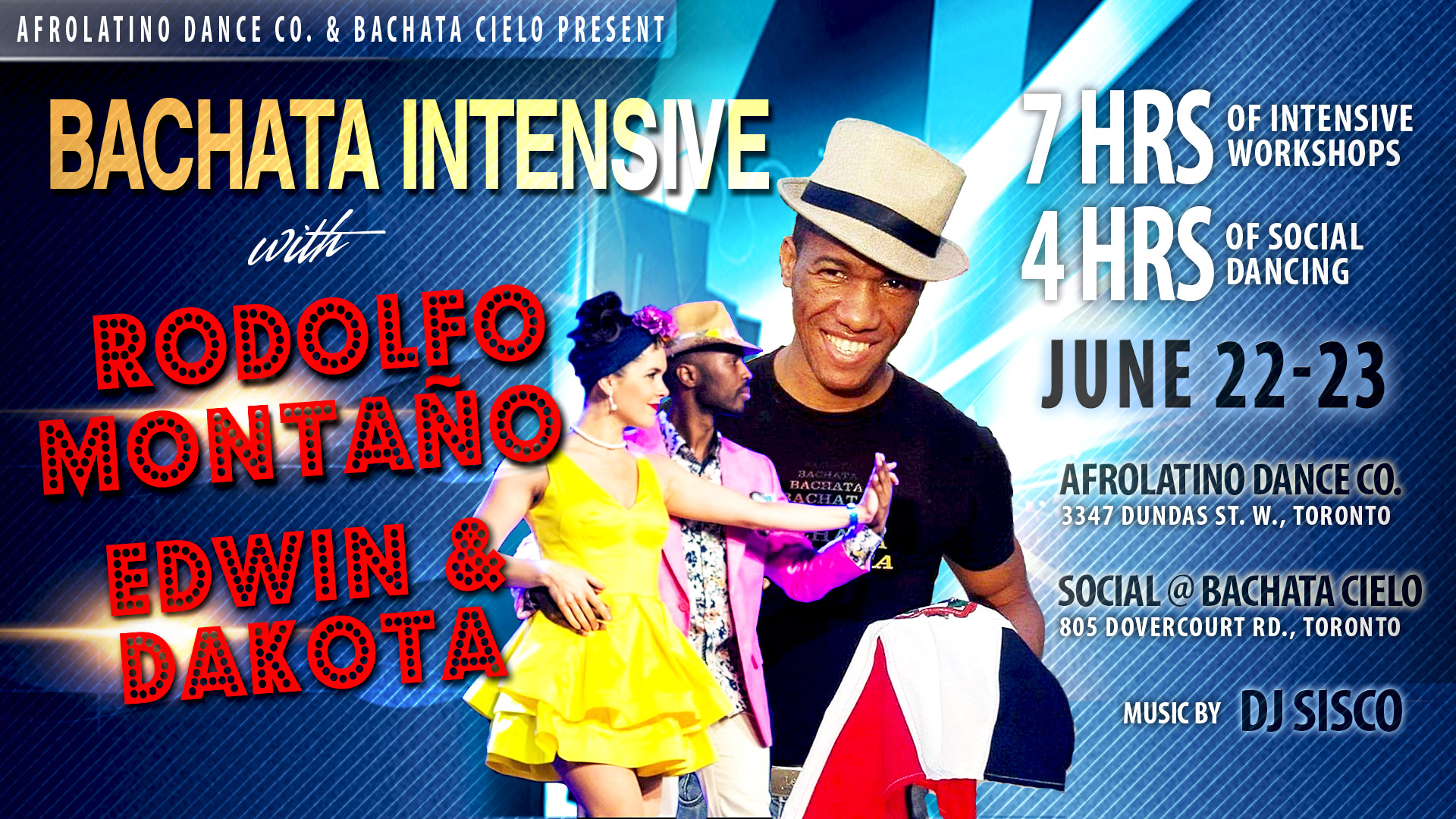 Bachata workshops with Rodolfo Montano, Edwin Ferreras & Dakota Romero