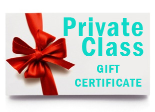 Gift certificate for private class